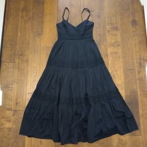Ralph Lauren size 4 black maxi dress prairie skirt